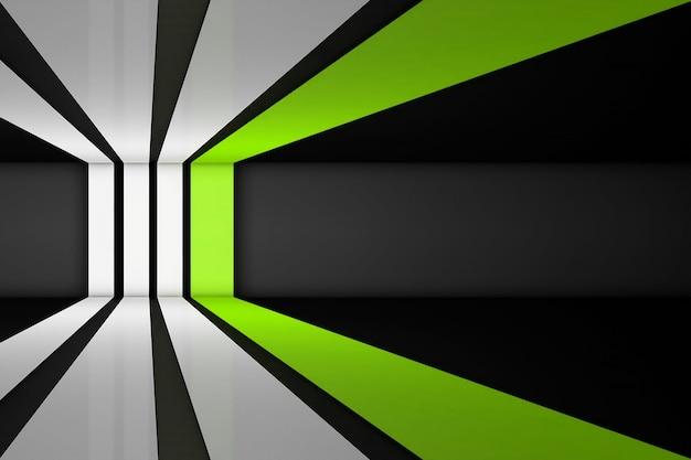 Rayas rectas blancas y verdes sobre un fondo gris