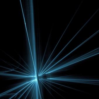 Rayos de luz azules sobre fondo negro fondo del papel pintado