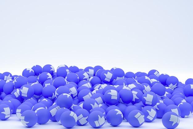 Reacciones de facebook emoji 3d render