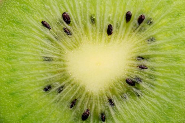 Rebanada de kiwi de cerca