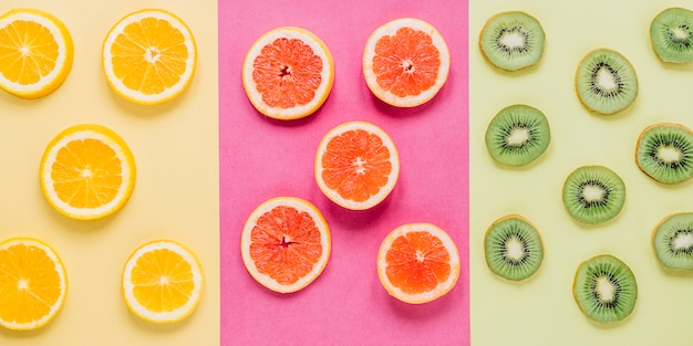 Rebanadas de frutas variadas