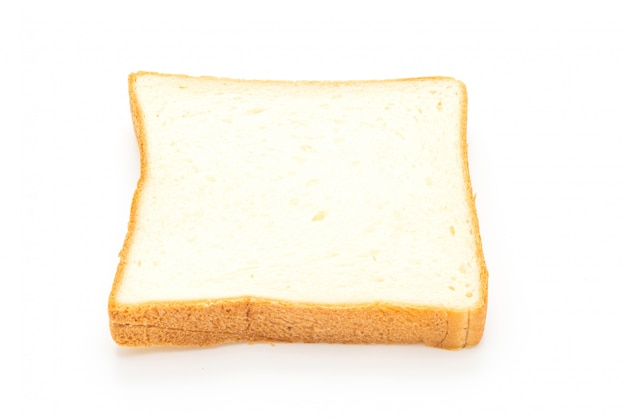 Rebanadas de pan en blanco