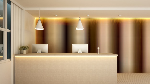 Recepción en el lobby para obras de arte del hotel u oficina