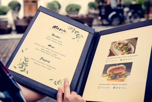 Receta de menú de comida hecha en casa restaurante recomendado