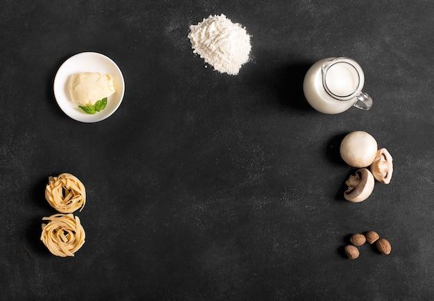 Receta de pasta con champiñones y salsa bechamel