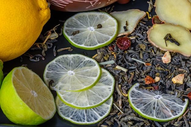 Receta para un té con lima y jengibre