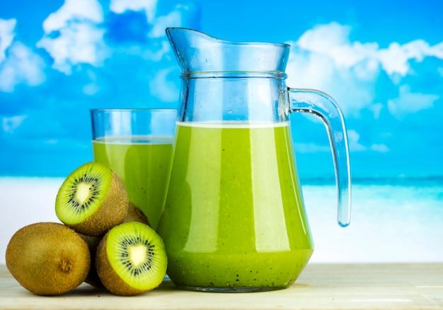 Receta de verano de jugo de kiwi saludable