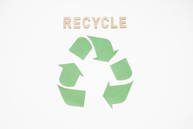 Reciclar personajes con logo verde