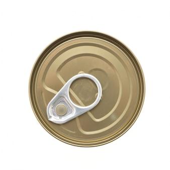 Recipiente de metal beber parte superior de soda