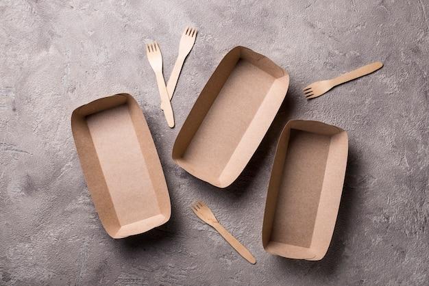 Recipientes de comida rápida ecológicos