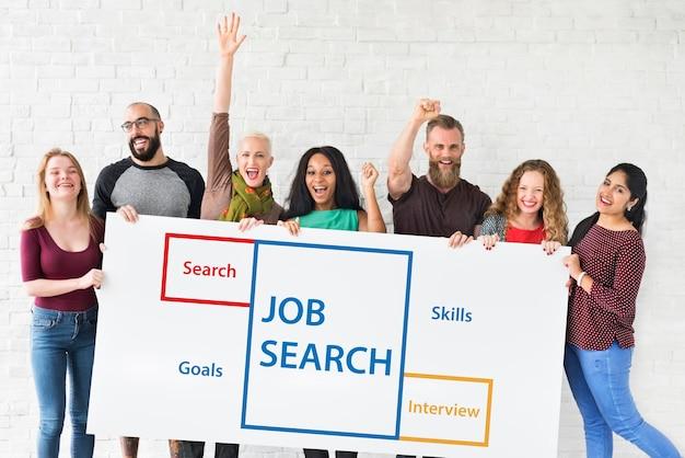 Reclutamiento, empleo, carrera, contratación, vacante, palabra