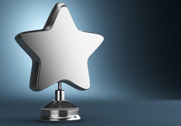 Una recompensa estrella de oro aislada sobre fondo oscuro
