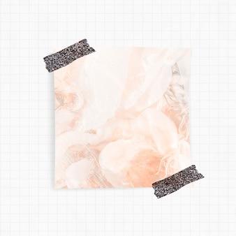 Recordatorio con fondo de humo naranja y cinta washi.