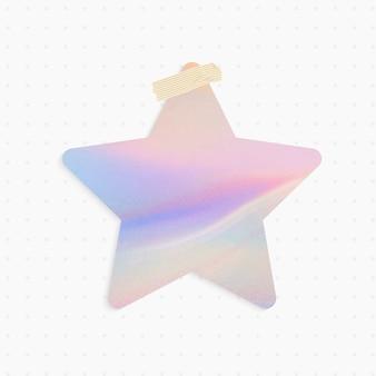 Recordatorio holográfico con forma de estrella y cinta washi