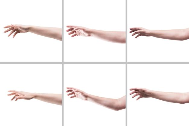 Recortar manos pidiendo ayuda