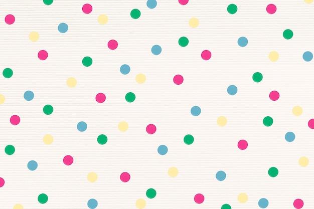 Recurso de diseño con estampado de lunares coloridos
