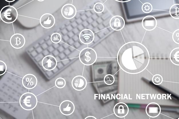 Red financiera. negocios, internet, tecnología