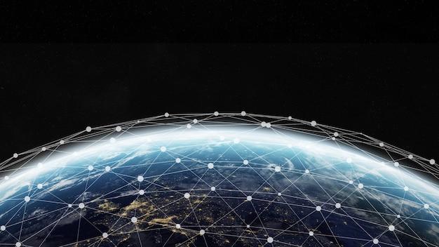 Red global y conexión de información.