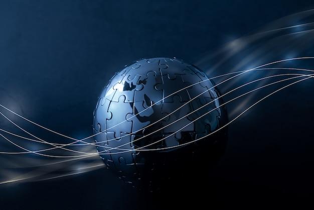 Red global de tecnología y futuro.