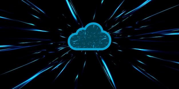 Red inalámbrica almacenamiento en la nube la tecnología de computación en la nube de internet