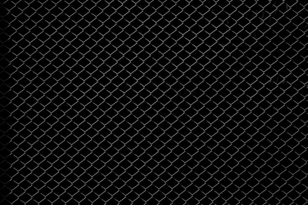 Red del metal aislada en fondo negro