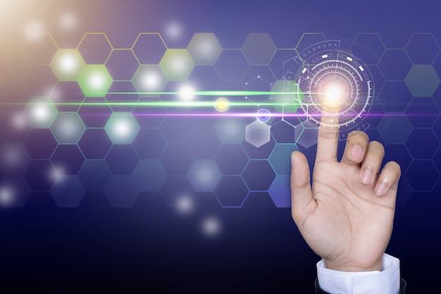 Red de negocios de tecnología y comunicación.