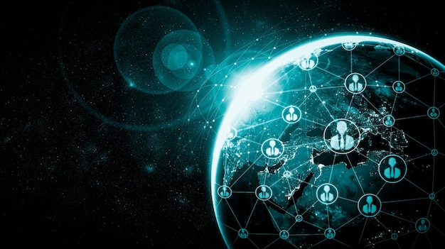 Red de personas y conexión a la tierra global en una percepción innovadora