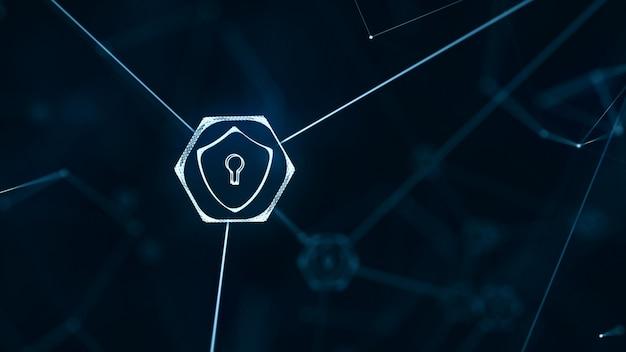 Red de tecnología de internet y concepto de seguridad cibernética