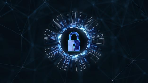Red de tecnología de internet y concepto de seguridad cibernética.
