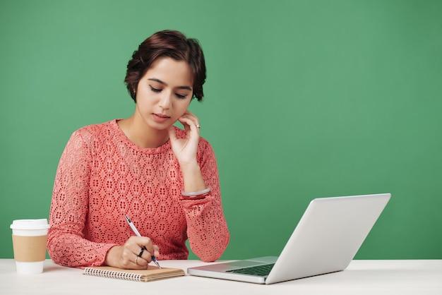 Redactor de ideas de escritura