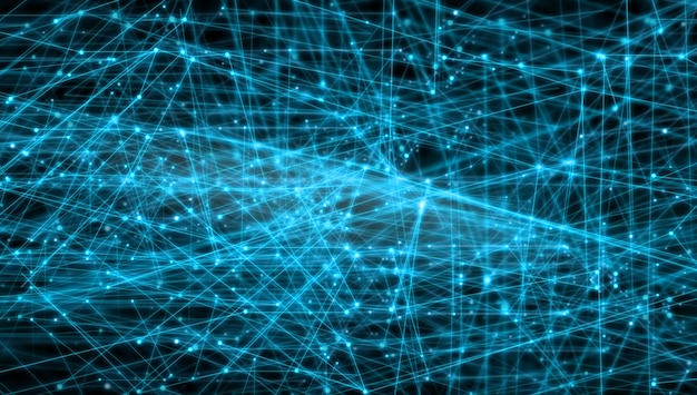 Redes globales conectando líneas de concepto.