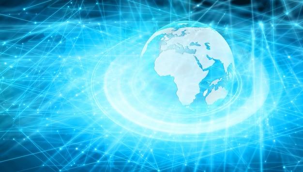 Redes de internet y concepto de globalización.