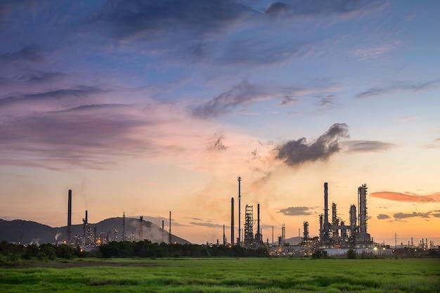 Refinería de petróleo en la industria petroquímica