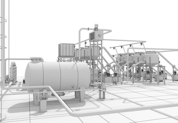 Refinería de petróleo, producción química