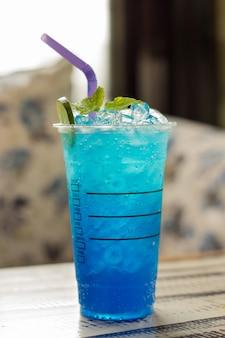 Refresco de lima hawaiana azul / iwaii blue hawaii