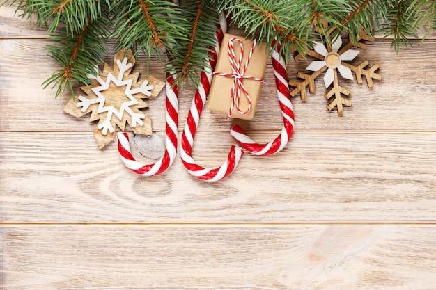 Regalo de navidad y adornos de navidad