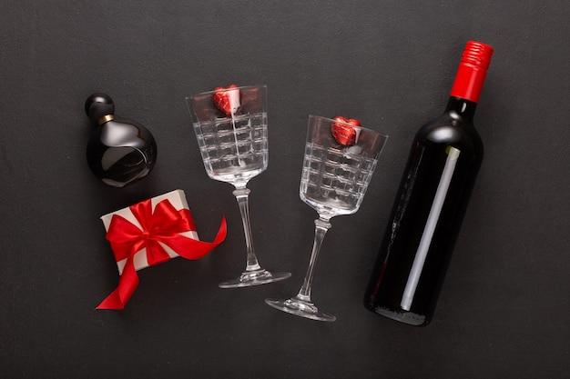 Regalo de vino y san valentín.