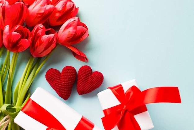 Regalos de primeros planos para el día de san valentín