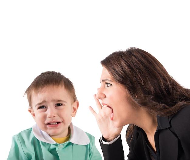 Regañar a un niño