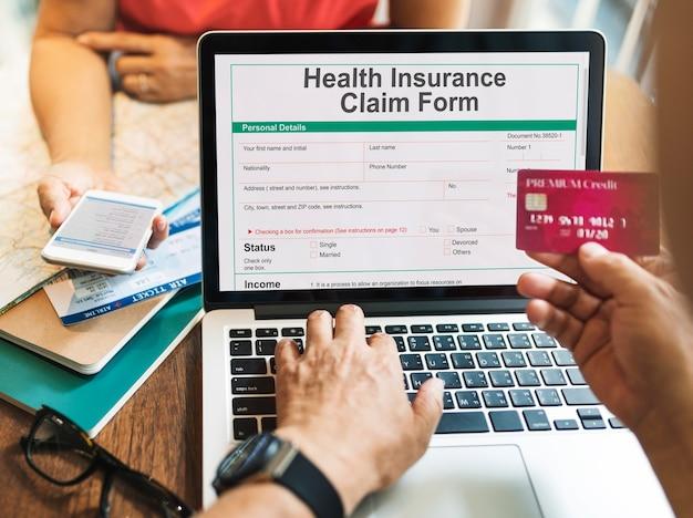Registro de seguro médico en línea