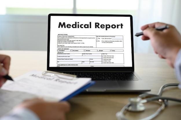 Registros médicos información del paciente tecnología médica
