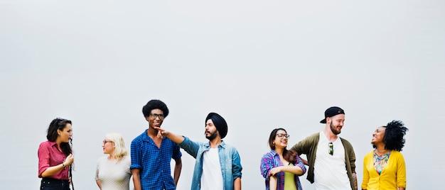 Relación de la amistad de la gente team togetherness concept