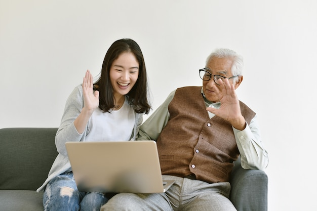 Relación familiar asiática
