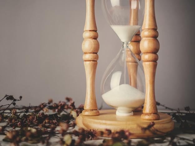 Reloj de arena vintage, reloj de arena o reloj de arena.