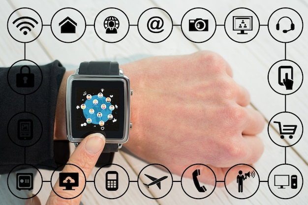 Reloj inteligente con muchas aplicaciones