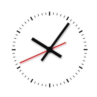 Reloj y marca de tiempo sin números aislados.