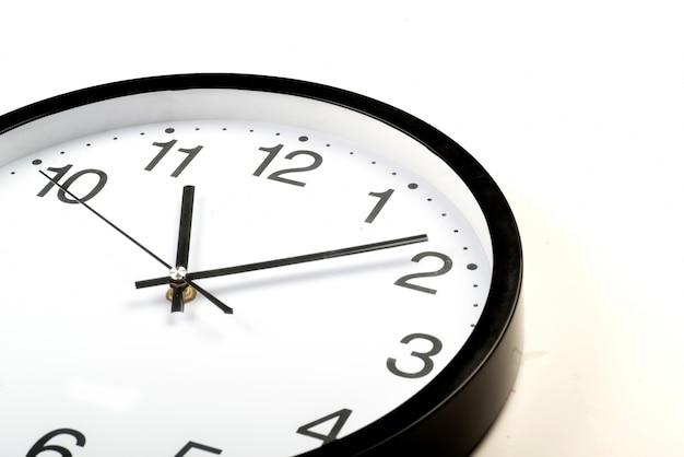 Reloj redondo de la oficina