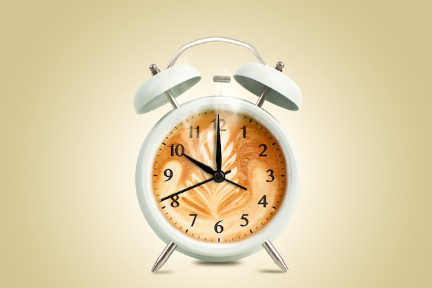 Reloj de tiempo de taza de café