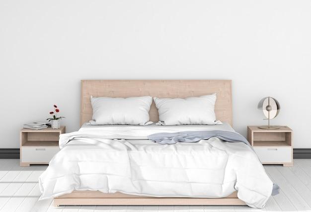 Render 3d de dormitorio interior