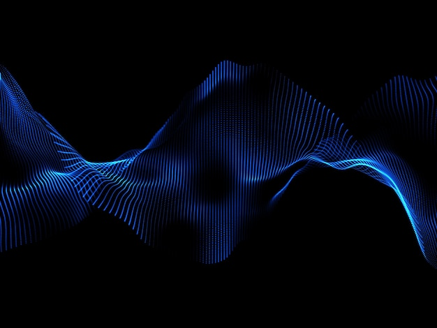 Render 3d de un fondo abstracto moderno con partículas cibernéticas